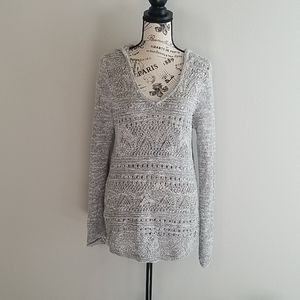 3/30 Cloud Chaser Women's Grey Hoodie Sweater L